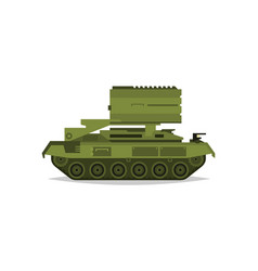 multiple launch rocket systems military equipment vector image