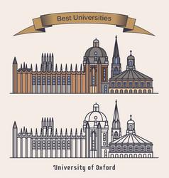 Oxford university building architectureeducation vector