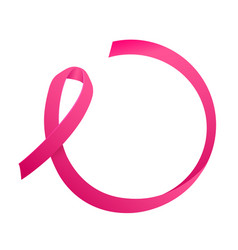 Ribbon of breast cancer round consept for text vector