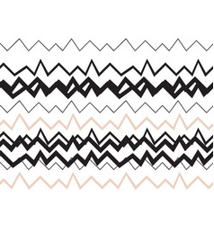 Seamless geometrical pattern zigzags nude colors vector