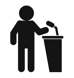 Seminar speaker event icon simple style vector