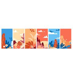 set landscapes in vector image