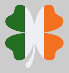 shamrock clover icon in style ireland flag vector image