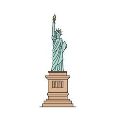 statue liberty icon - famous usa landmark vector image