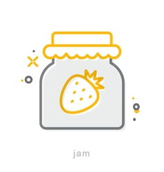 Thin line icons Jam vector