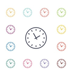 Time flat icons set vector
