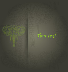 Tribal pattern with elephant ethnic indian vector