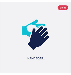 two color hand soap icon from cleaning concept vector image