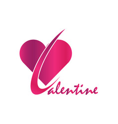 valentine logo vector image