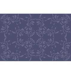 Vintage blue pattern vector image
