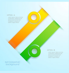 web infographic abstract business concept vector image