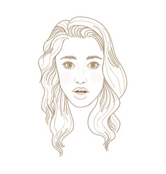 Young woman opened mouth and eyes surprised vector