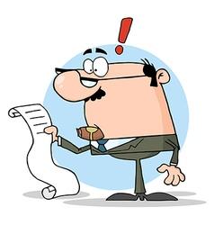 Boss Reviewing Big Bill vector image vector image