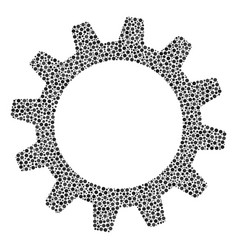 cogwheel composition of dots vector image