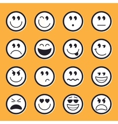 Emoticons stock vector image vector image