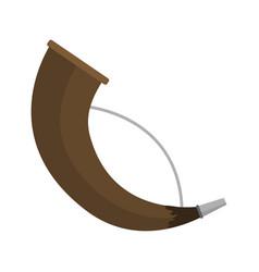 post horn musical instrument sound trumpet vector image