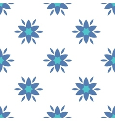 Simple flowers seamless pattern vector image