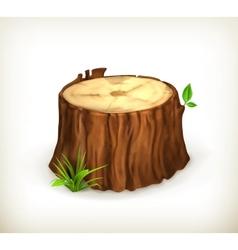 Tree stump vector image vector image