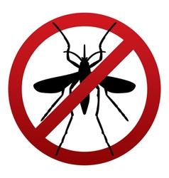 Anti mosquito sign vector