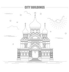 City buildings graphic template Estonia vector image vector image
