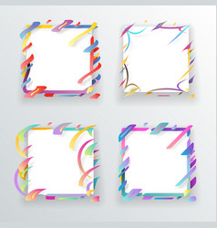 paper abstract frame flyer geometric background vector image