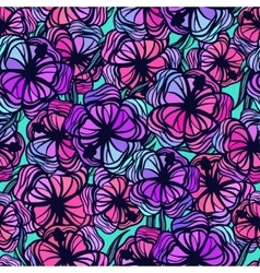 Seamless pattern with stylized colored tropical vector image vector image