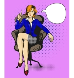Successful business woman sit in chair vector image vector image