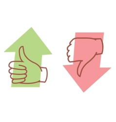 thumbs up or thumbs down vector image