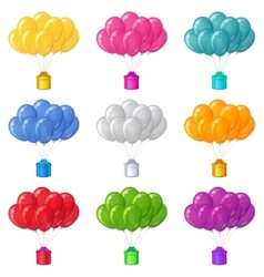 Balloons with a gift boxes set vector image