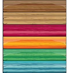 Colorful wooden vector image