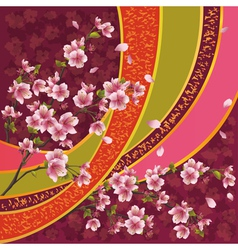 Japanese pattern with sakura blossom vector image