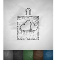 love icon Hand drawn vector image