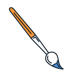 paint brush school supply vector image