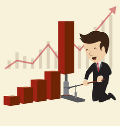 business chart concepts vector image