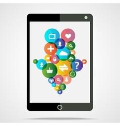 download tablet vector image