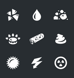 set of energy source icons vector image vector image