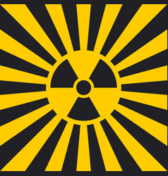 sign dangerous ionizing radiation pop art vector image vector image