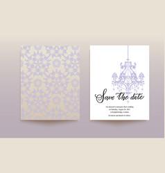template wedding card vector image