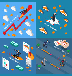 Accelerate business 2x2 design concept vector