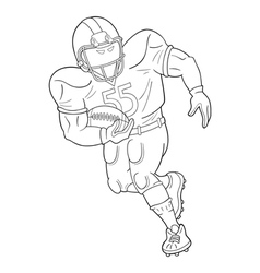 American football player with a ball vector