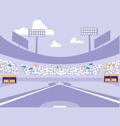 Baseball sport stadium scene vector