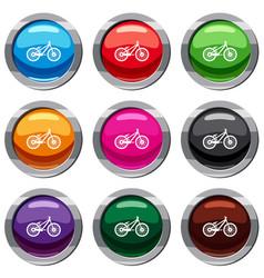 bike set 9 collection vector image