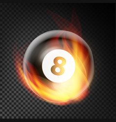 billiard ball realistic billiard ball 8 in vector image