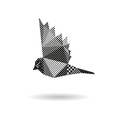 Bird abstract isolated vector image