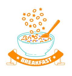 breakfast good morning vector image