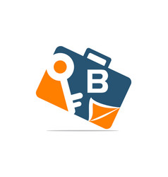 Briefcase key document initial b vector