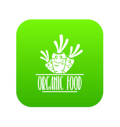 carrot icon green vector image