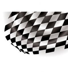 checkered corner vector image vector image