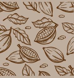 chocolate fruit design seamless pattern vector image