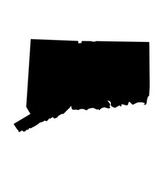 Connecticut state of usa - solid black silhouette vector